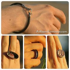 We have great choices for men's jewelry at our store. Masculine and sophisticated our leather bracelets sport unique silver and copper clasps. Silver and copper rings are designed to impress with contemporary lines and organic textures and ancient charms. For these and more visit our store. Active link in bio.  #mensfashion #coins #handmadering #leathercraft #leather  #gold #sterlingsilver #mensbracelet #menstyle #menwithstyle #menwithclass #fashionformen #silversmith #handmade…