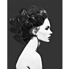 Black and white portrait photomontage (2) digital art print portrait collage