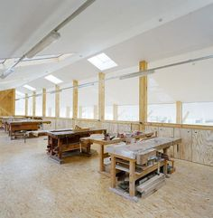 Old farm estate rehabbed into a training center for carpenters - Germany