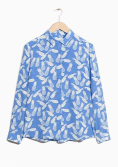 & Other Stories image 2 of Silk Shirt in Blue