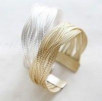 Gold Korea Style Braided Twist Bracelet AYW33496