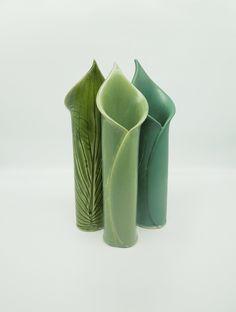 Hosta Bud Vases by Kim Cutler (Ceramic Vase)   Artful Home