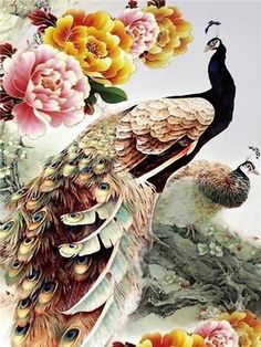 5D DIY Diamond Painting Animal Diamond Mosaic Cross Stitch Full Square – Ezbuypay Cross Paintings, Animal Paintings, Diamond Picture, Mosaic Crosses, Peacock Art, Diamond Paint, Ningbo, Beautiful Fairies, Paint Set