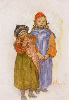 Carl Larsson 1853-1919   Swedish Realist painter   The Arts and Crafts Movement