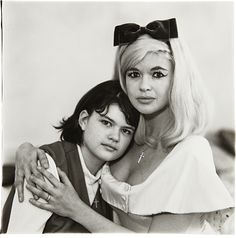 Diane Arbus - Jayne Mansfield Climber-Ottaviano, actress, with her daughter Jayne Marie, L.A., C.A., 1965 - Gelatin silver print, printed later by Neil Selkirk.  14 x 14 1/4 in. (35.6 x 36.2 cm)