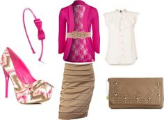 """Pink and Brown Love!"" by clgc96 on Polyvore"