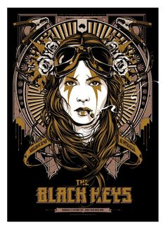 The Black Keys have some incredible posters for their tour in Australia. Poster by Ken Taylor