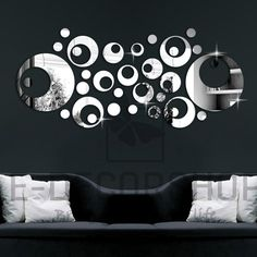 Decorative Wall Mirror Clock for every home and wall by EDecorShop, $55.00