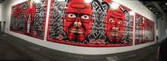 Gilbert & George, Scapegorated. A triptych, 2013