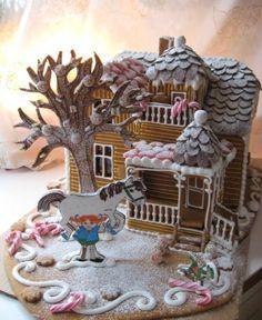 Pippi Longstocking gingerbread pippi Långstrump Villa villekulla pepparkakshus Sverige Sweden. Elisabet Nystrand
