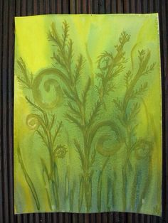 Nice painting for 5th grade botany.