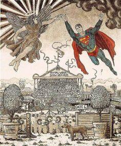 © Leon Pericles   Superman Meets Archangel Gabriel   Frances Keevil Gallery Sydney