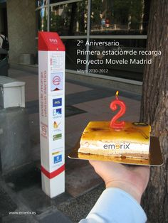 Second anniversary Madrid's first recharge station