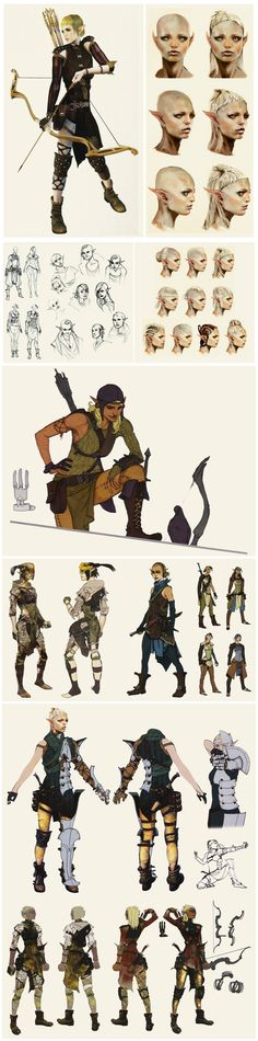 Sera's concept art in The Art of Dragon Age: Inquisition