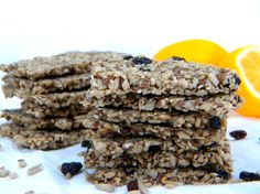 Plain Flax-sunflower-semsame Crackers or Rosemary & Dried Currant Flax Crackers