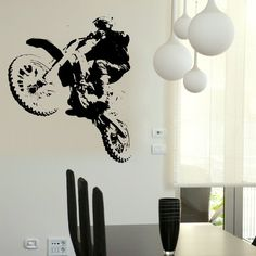 mason: one wall of decals... with gray and white accents
