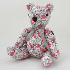 Vintage fabric teddy bear by Bubs Bears