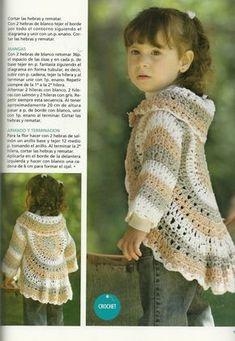 Veronica crochet y tricot. Crochet Toddler, Crochet Baby Clothes, Crochet For Kids, Free Crochet, Knit Crochet, Crochet Hats, Crochet Diagram, Crochet Patterns, Crochet Circles