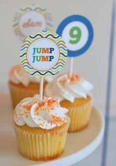Colorful Trampoline + Jump themed birthday party via Kara's Party Ideas   KarasPartyIdeas.com (18)