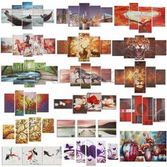 Colorful Abstract Flower Art Oil Canvas Painting Picture Print Set Decor Noframe #UnbrandedGeneric #ModernArtOilPainting