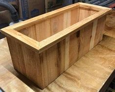 BUILD YOUR OWN Cedar Planter Box for your Organic Garden | Step by Step Wood Building Plans#box #build #building #cedar #garden #organic #plans #planter #step #wood Diy Wood Planter Box, Planter Box Plans, Garden Planter Boxes, Rustic Planters, Succulent Planter Diy, Cedar Planters, Fence Planters, Diy Planters, Planter Ideas