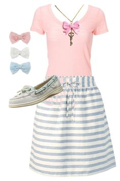 """""""Breezy"""" by whitneybeam on Polyvore featuring Fat Face, Sperry and Decree"""