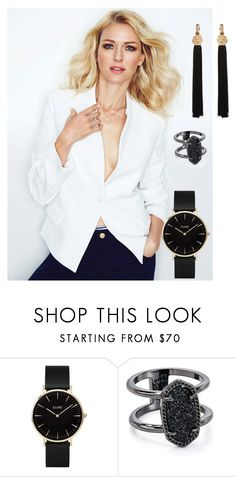 """""""Bez naslova #28"""" by uscuplicmirela ❤ liked on Polyvore featuring CLUSE, Kendra Scott and Yves Saint Laurent"""