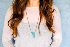 The Vee in Turquoise.  Geometric jewelry!