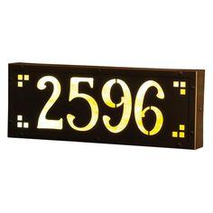 Americas Finest Lighting Pasadena Ave 12 Volt Illuminated House Numbers - Medium Champagne - AF-L21-12V-WB-CH