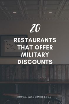 20 Restaurants That Offer Military Discounts  #veterans #military #freefood