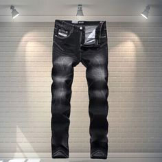 b513c1c5814bf New Arrival Fashion Dsel Brand Men Jeans Black Color White Washed Printed  Jeans For Men Casual Pants Italian Designer Jeans Men-in Jeans from Men s  Clothing ...