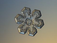 SNOWFLAKE PHOTOGRAPHY Massive gold, real snowflake macro photo on glass with LED back light - Alexey Kljatov