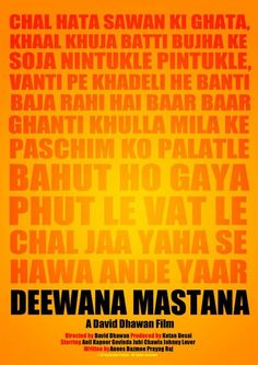 Deewana Mastana - Minimal Bollywood Posters!! These are just EPIC!