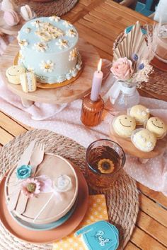 Swoon over this wonderful boho picnic birthday party! The cake are amazing! See more party ideas and share yours at CatchMyParty.com #catchmyparty #partyideas #bohoparty #boho #picnic #rusticparty #girlbirthdayparty #daisies #daisy #cake