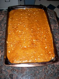 Amish Peanut Brittle - I used crushed almonds. Really good!