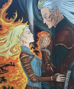 Aelin and Rowan - Empire of Storms such a beautiful book!!!