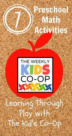The Good Long Road: {The Kid's Co-Op} 7+ Preschool Math Activities