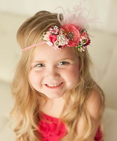 Love this My Sunshine Shoppe Hot Pink Floral Tie-Back Headband by My Sunshine Shoppe on #zulily! #zulilyfinds