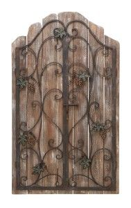 Cool wood & iron #door for #home decor interior #wall art.  Love it!