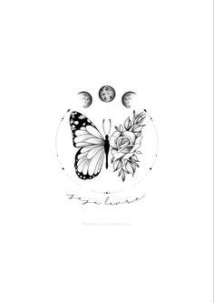 Dope Tattoos, Dream Tattoos, Mini Tattoos, Flower Tattoos, Tatoos, Tiny Tattoos For Girls, Cute Tattoos For Women, Small Tattoos, Butterfly With Flowers Tattoo