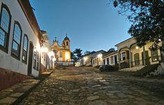 Rua da Câmara - vista matriz de Santo Antônio.