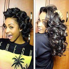 Pin curl fresh!!!