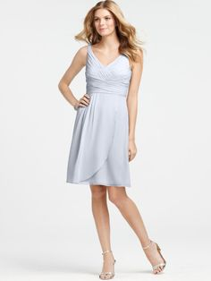simple romantic v-neck sleeveless knee length bridesmaid dress under 100