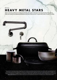 The edgy 'Elan Vital ELV74' tap by Susan Fredman Design Group from The Watermark Collection. http://www.thewatermarkcollection.eu/ Elle Decoration Kitchens - Your Essential Guide April 2016