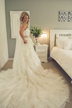 If I didn't plan on getting married at the beach someday...and knew this wouldn't collect up all the sand on the beach, this would be my dream dress.