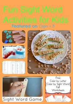 Tons of Fun Sight Word Activities (and $500 Giveaway!)