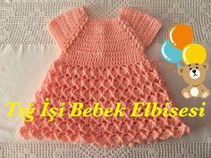 Moda Crochet, Crochet Hats, Toddler Dress, Baby Dress, Crochet Patterns For Beginners, Crochet Videos, Baby Patterns, Baby Knitting, Kids Outfits
