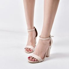 a85ebfcf92826 Women Suede Rose Embroidery With Crude High-heeled shoes Sandals