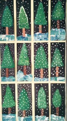 Les sapins année nadal christmas crafts for kids, christmas crafts y . Winter Art Projects, Christmas Crafts For Kids, Christmas Projects, Holiday Crafts, Craft Projects, Winter Project, Holiday Decor, Preschool Christmas, Christmas Activities