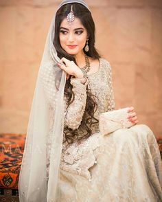 Find the latest bridal walima dress designs ever you seen before. We have gathered best designer walima dresses from off the ramp and other fashion shows at one place. Pakistani Bridal Makeup, Pakistani Wedding Dresses, Indian Bridal, Pakistani Couture, Wedding Attire, Wedding Bride, Nikkah Dress, Dulhan Dress, Desi Bride